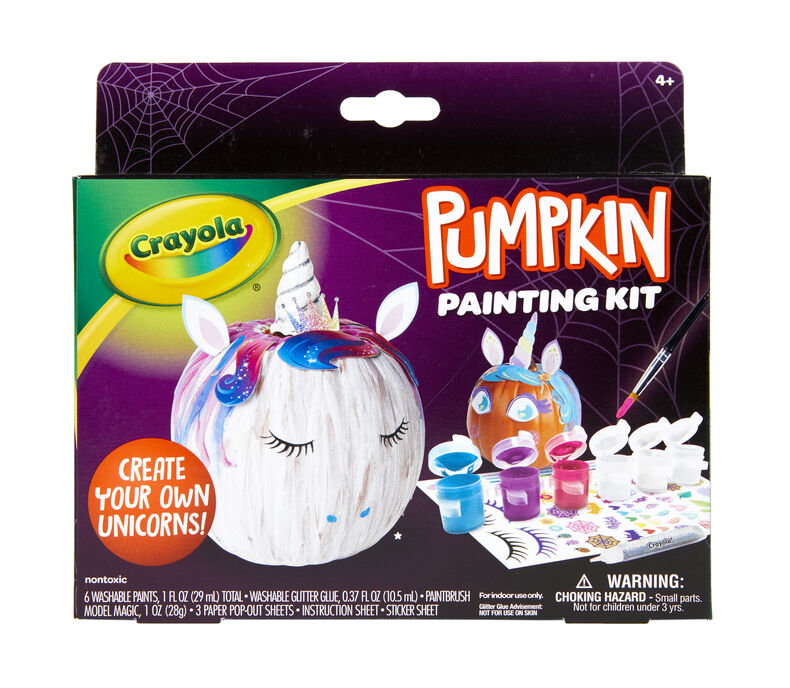 Halloween Pumpkin Painting Kits Set Of 12 Crayola Com Crayola