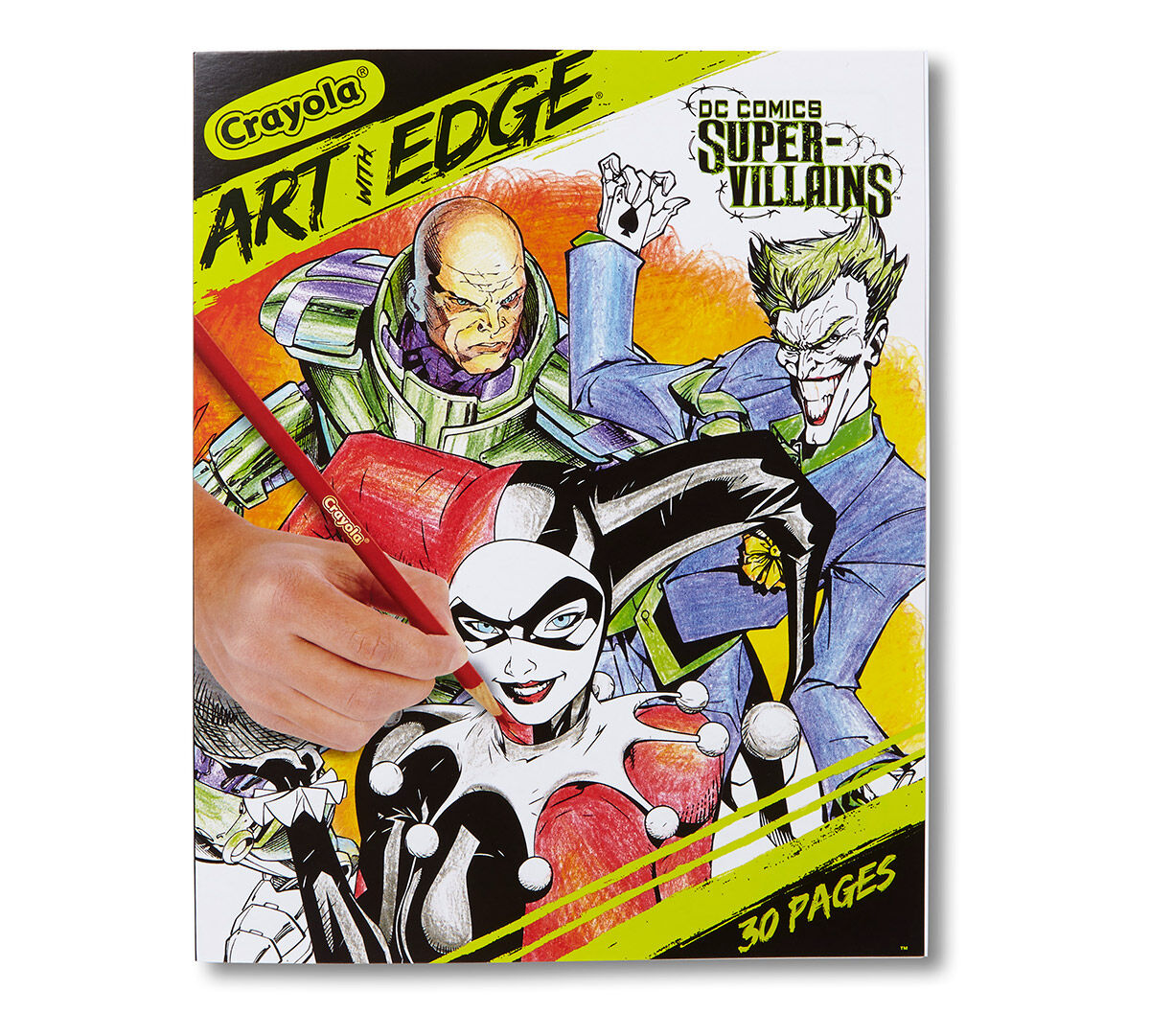 """- Crayola Art With Edge, DC Comics' Villains; 30 Coloring Pages, 8"""" X 10""""  Premium Paper, Great For Use With Art With Edge Coloring Tools Crayola"""