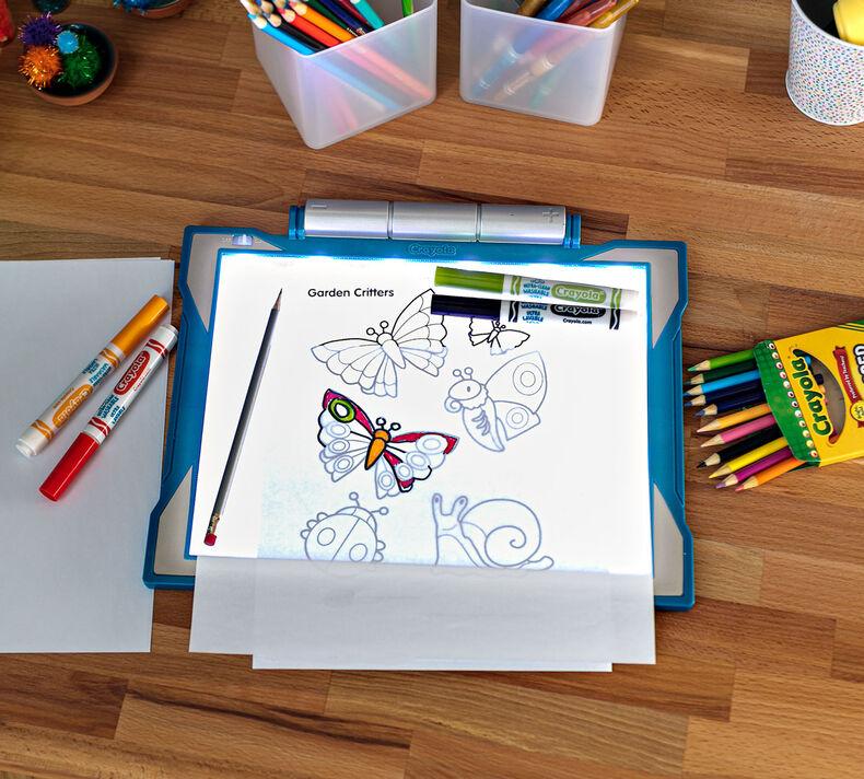 Blue Light Up Tracing Pad Gift For Boys Crayola Com Crayola