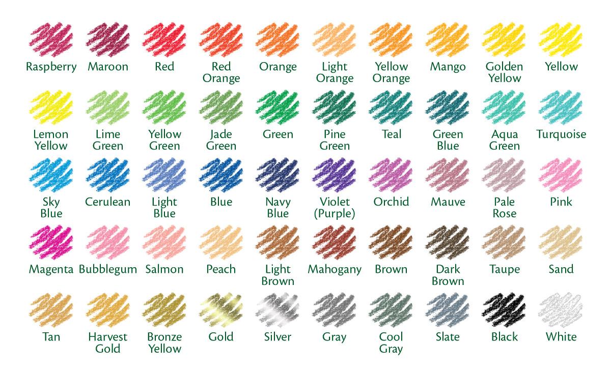 Crayola 50ct Long Colored Pencils 68-4050