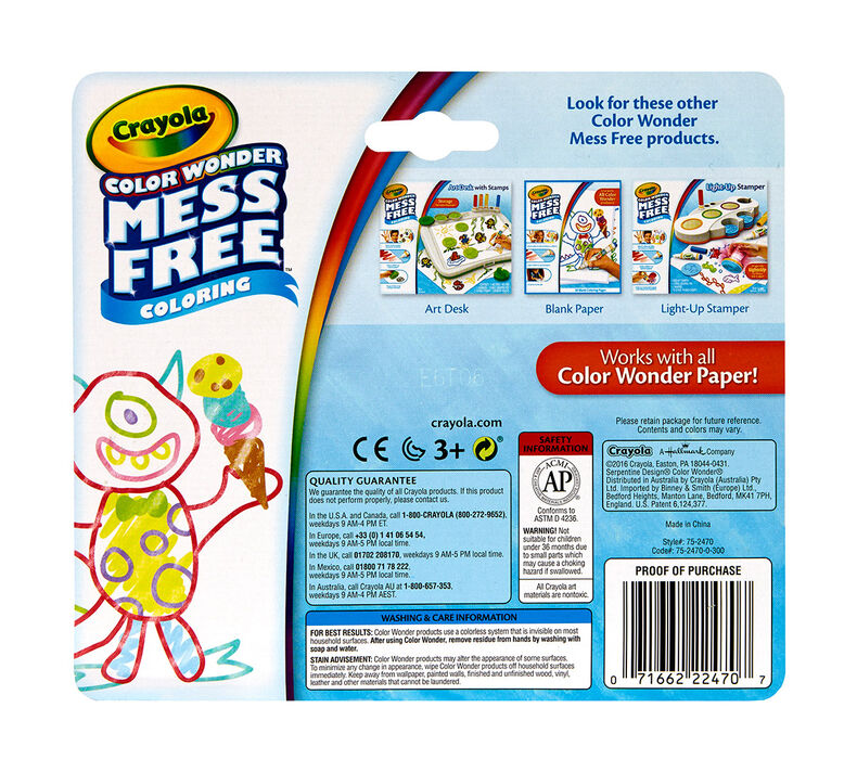 Color Wonder Mess Free Mini Markers 10ct - Pastel