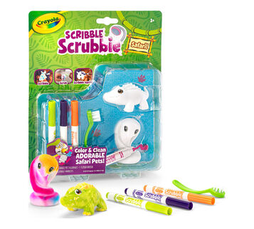 Scribble Scrubbie Safari Animals, Croc & Cobra, 2 Count