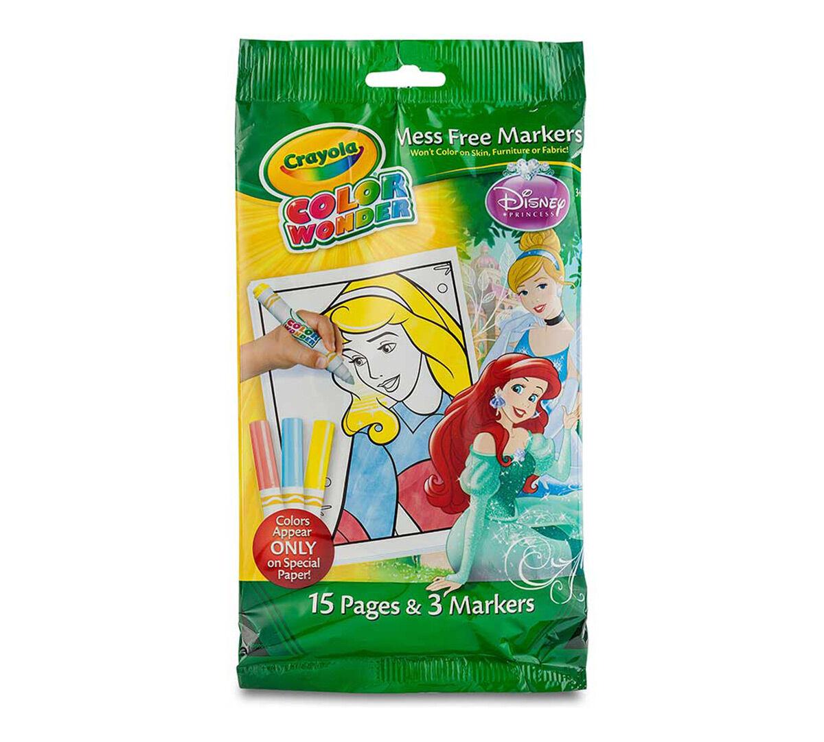 color wonder coloring pad markers disney princess
