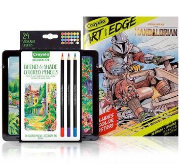 Mandalorian Coloring Gift Set, 24 Colored Pencils