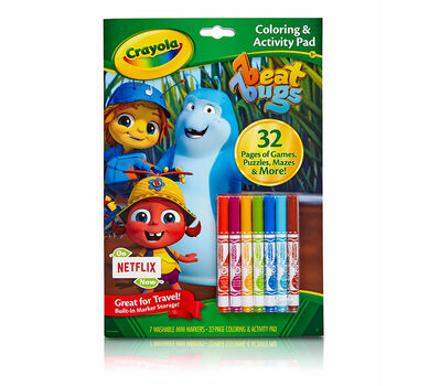 Coloring & Activity Pad with Markers, Beat Bugs