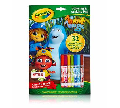 crayola coloring activity book beat bugs art activity