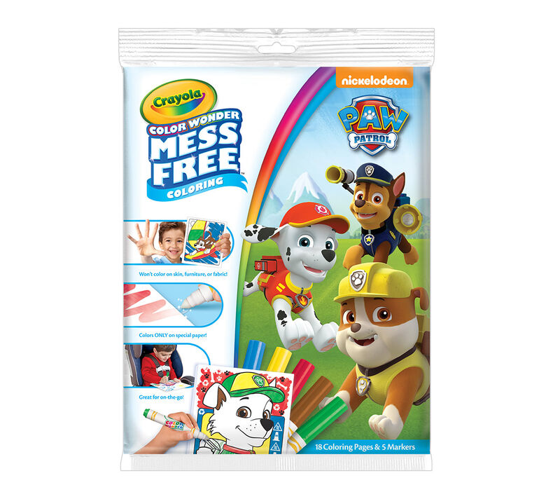 Color Wonder Coloring Pad and Markers, Paw Patrol