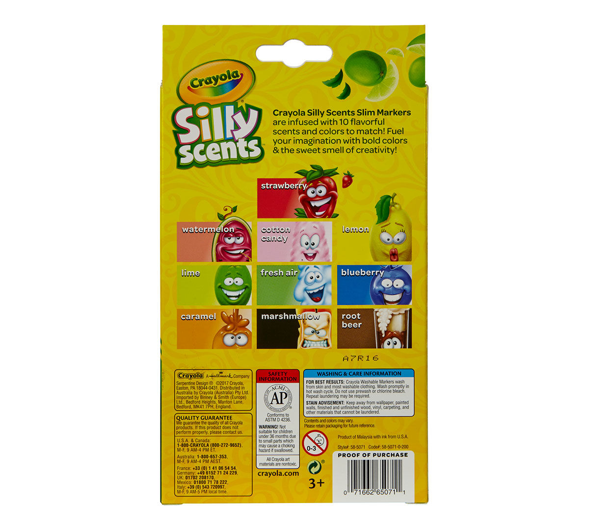 Crayola Silly Scents Markers 10 count Scented Art Tools Assorted