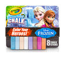 Frozen Washable Sidewalk Chalk - Color Your Heroes!, 8 Count