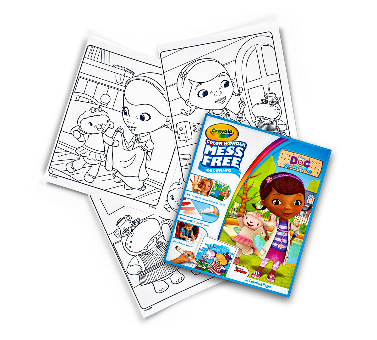 color wonder coloring pad doc mcstuffins crayola