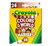 Colors of the World Skin Tone Broad Line Markers, 24 Count Front View of Box