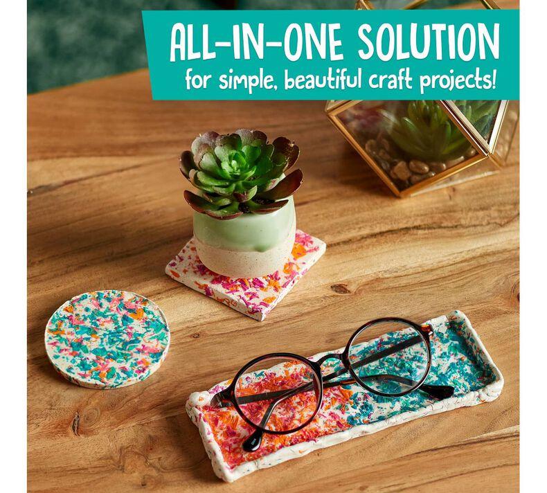 Crayola Craft Confetti Coasters & Dish Craft Kit