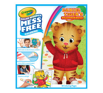 Color Wonder Daniel Tiger refill book front