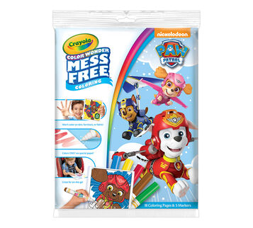 Color Wonder Mess Free Coloring Pad & Markers, Paw Patrol Front View