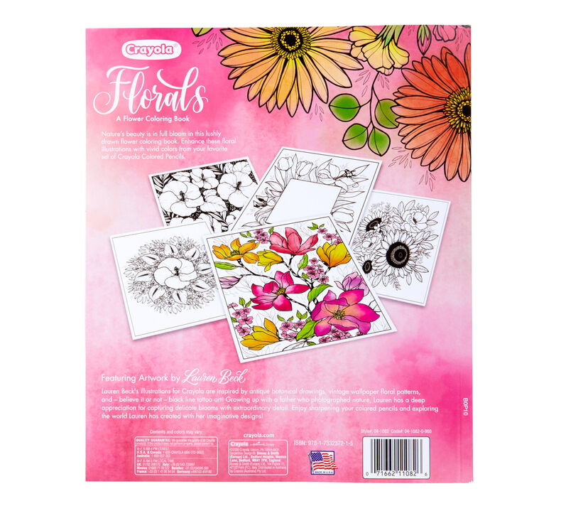 Florals,  A Flower Coloring Book