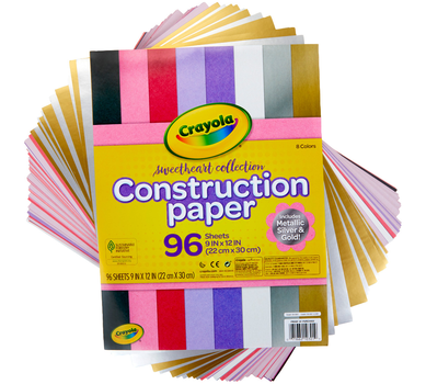 Crayola Construction Paper, Colored & Metallic Sheets, 9x12, 96 Count