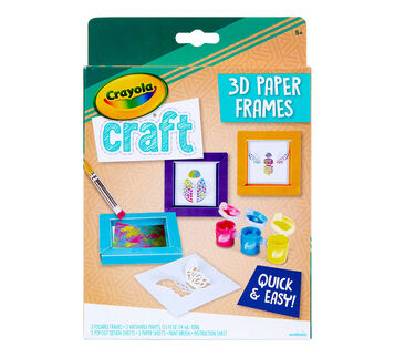 Crayola 3D Paper Frames Craft Kit Front View