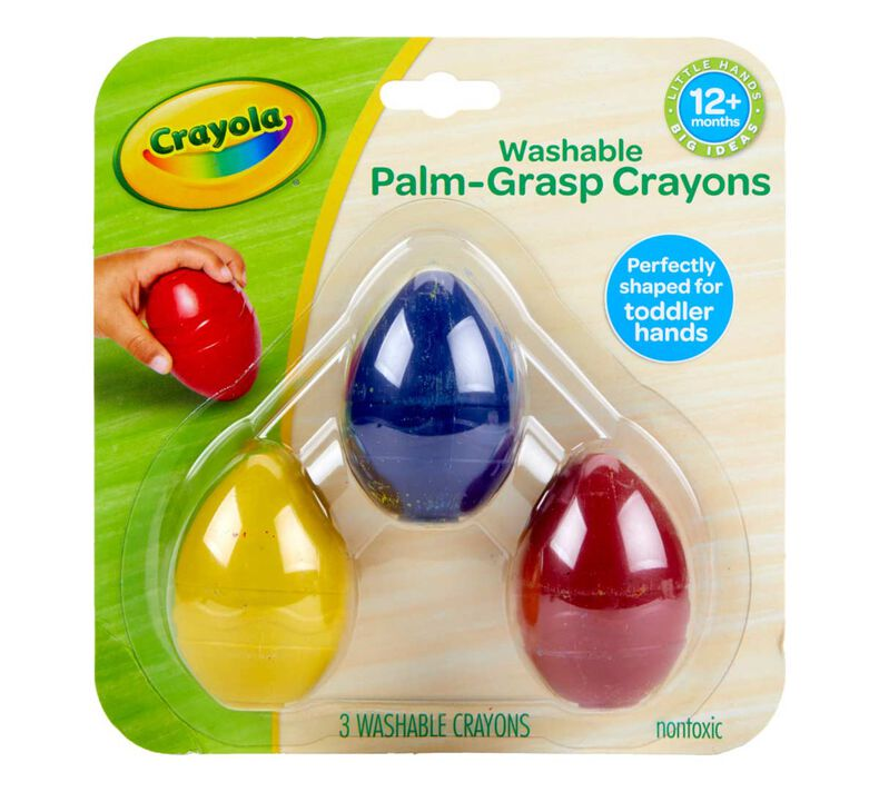 Palm Grasp Egg Crayons, 3 Count