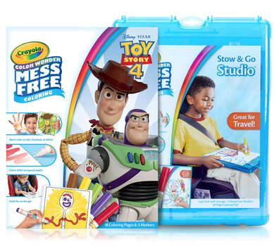 Color Wonder Mess Free Toy Story 4 Stow & Go Coloring Set