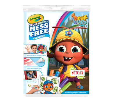 Color Wonder Mess Free Coloring Pad & Markers, Beat Bugs