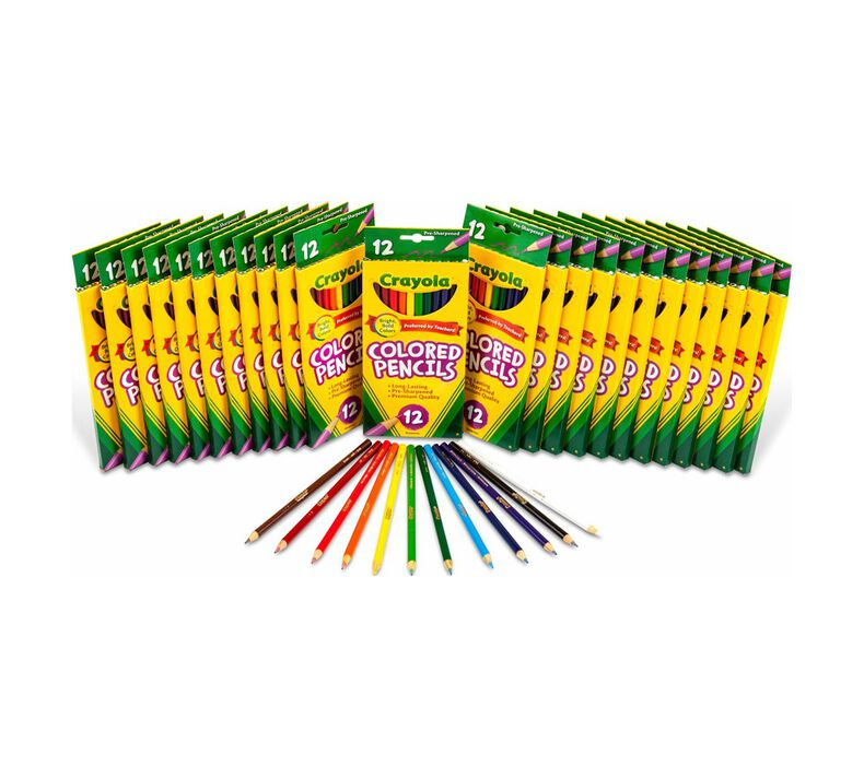 24 Box Classpack of 12 Count Long Colored Pencils