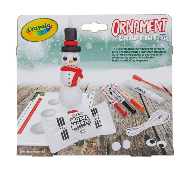 Tree & Snowman Ornament Craft Kit, 12 Count