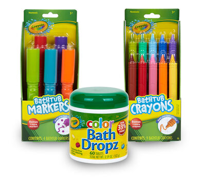 Crayola Bath Crayons, Markers, and Color Dropz Gift Set