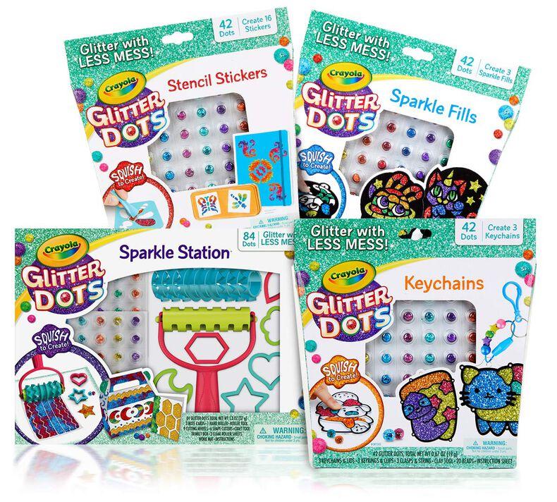 Glitter Dots 4-in-1 Craft Kit