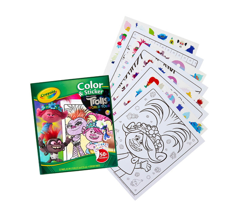 Trolls World Tour Color & Sticker Book