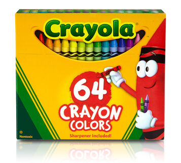 64 count Crayons Front of box