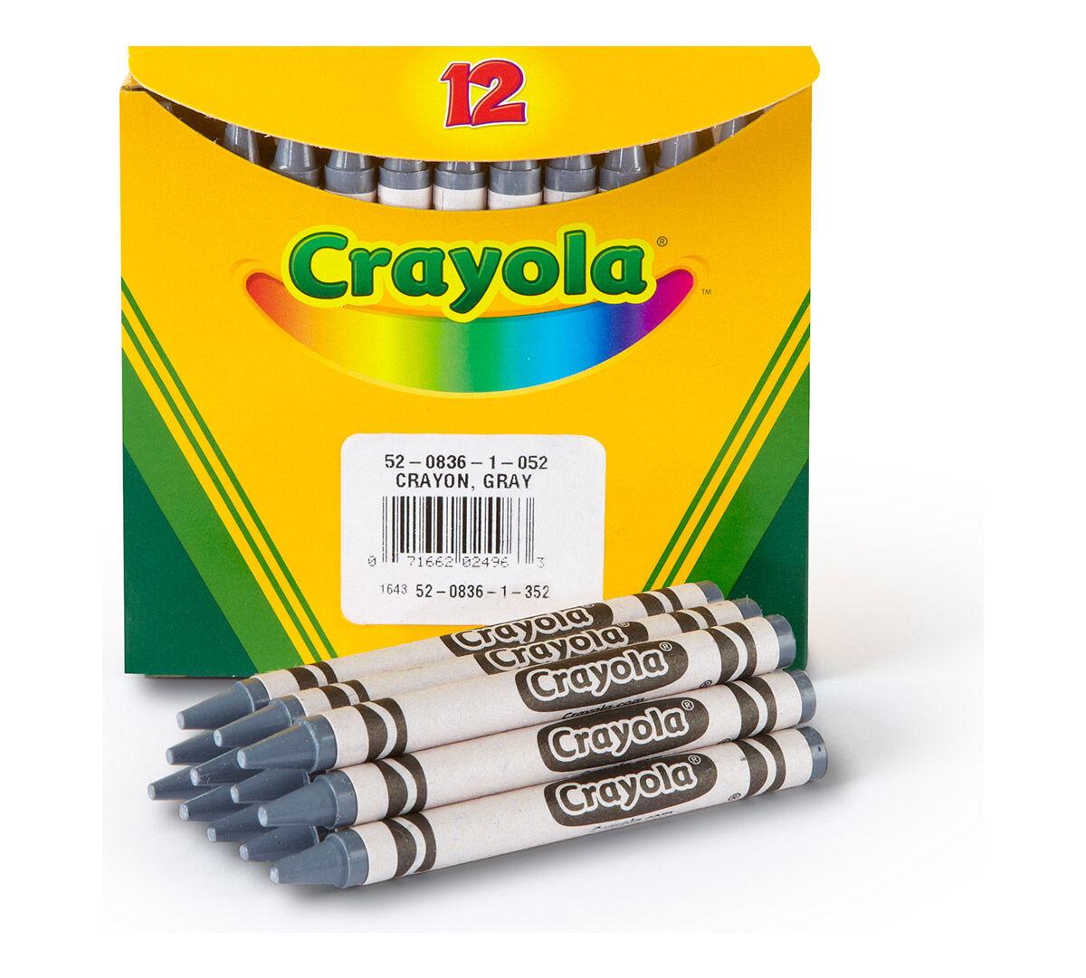Gray Bulk Crayons, 12 Count