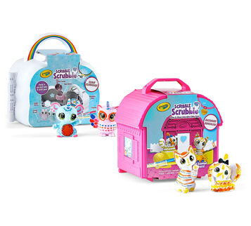Scribble Scrubbie Pets Backyard and Cloud Clubhouse Sets