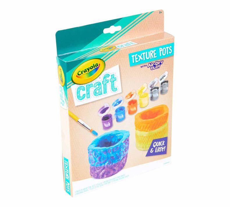 Crayola Craft Texture Pots Craft Kit