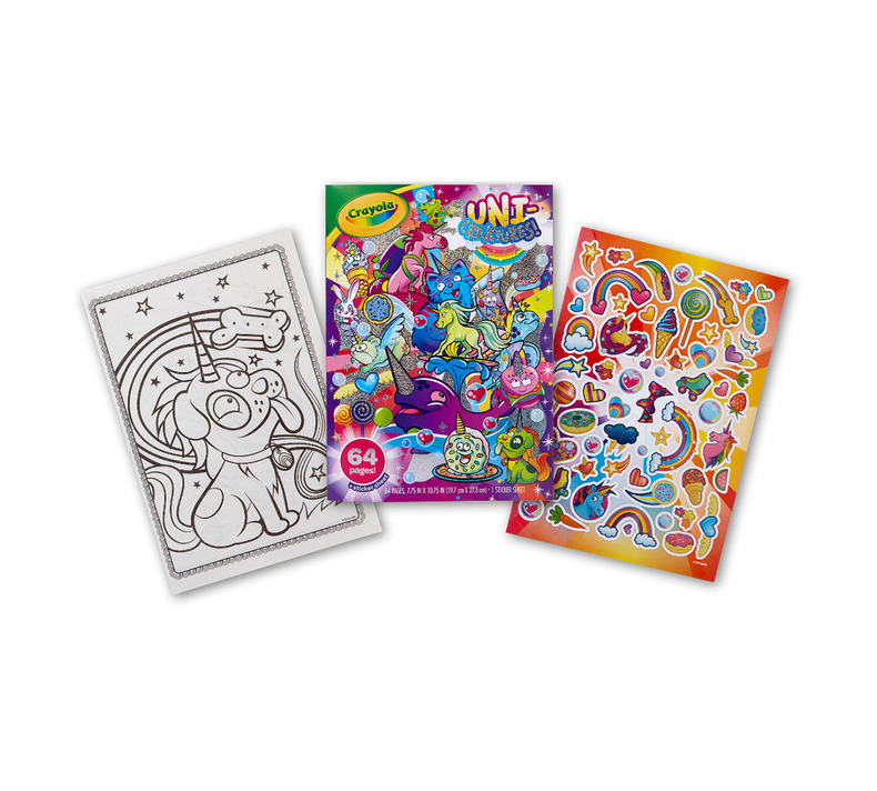 Uni-Creatures & Cosmic Cats Coloring Kit with Crayons