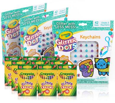 Glitter Kids Party Favors & Party Activity Set