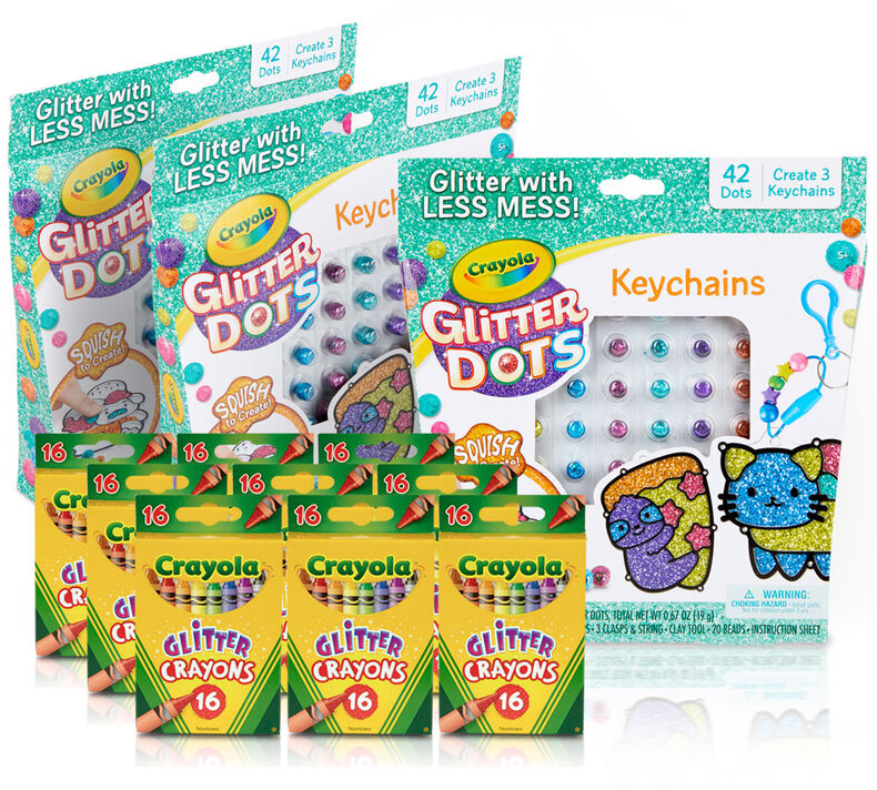 Glitter Kids Party Favors & Party Activity Set