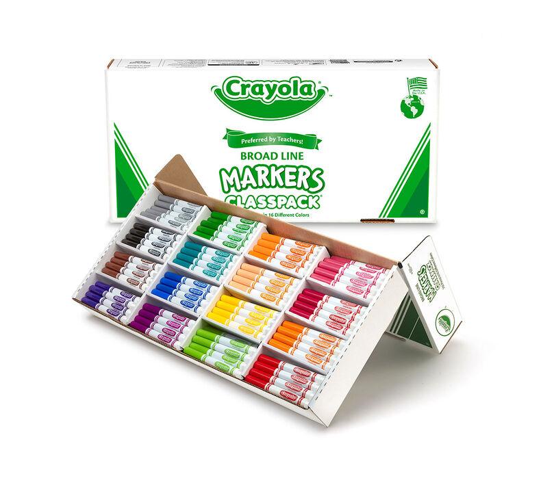 Crayola Broad Line Markers Classpack, 256 Count, 16 Colors