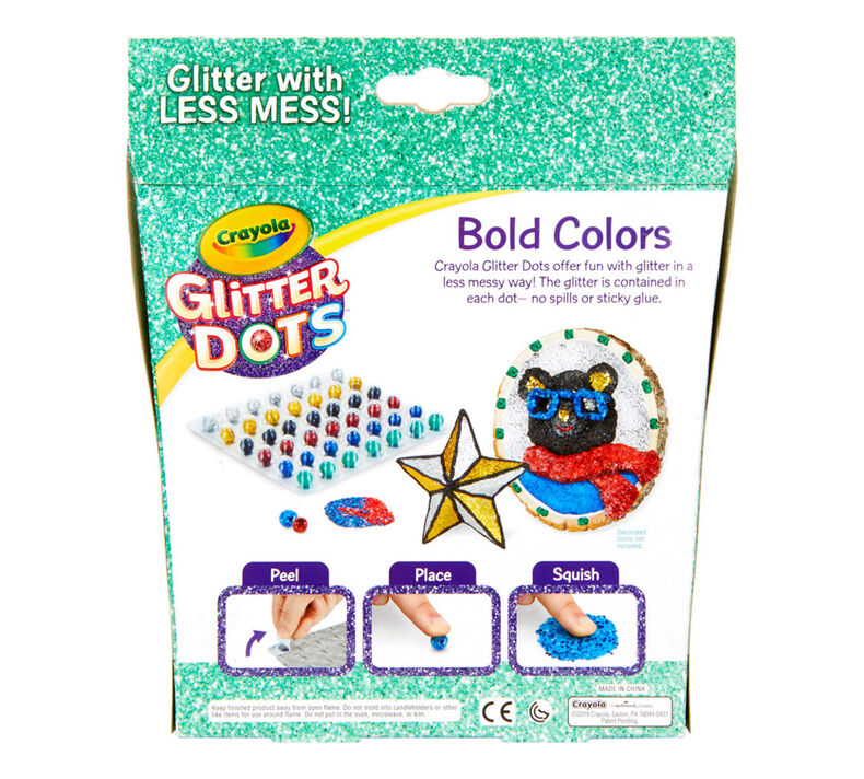 Glitter Dots Refills, 42 Count, Bold Colors