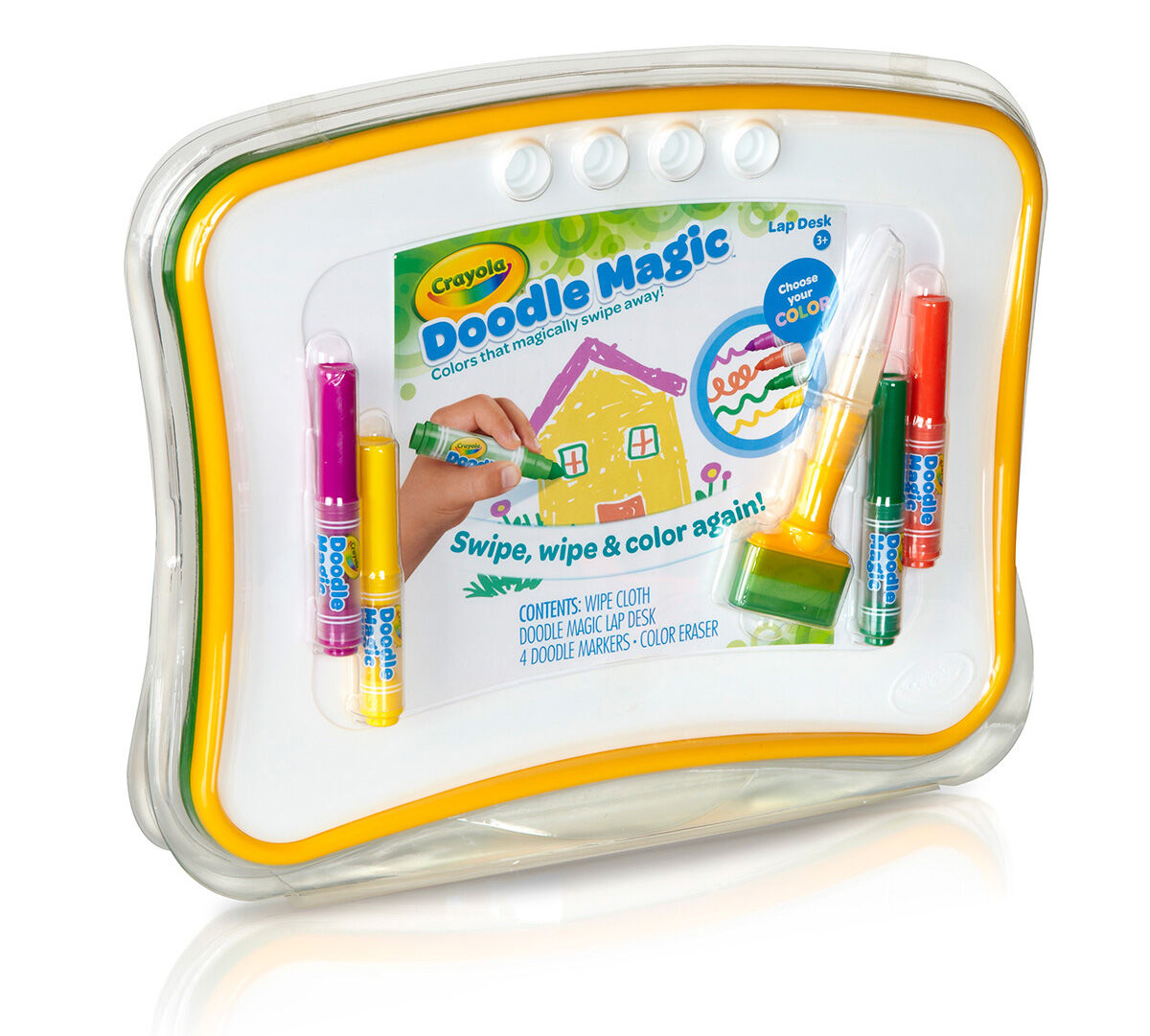 Crayola Doodle Magic Lap Desk Swipe Away Markers Childrens Creative Toy Gift