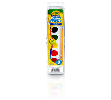 Washable Watercolors, 8 Count