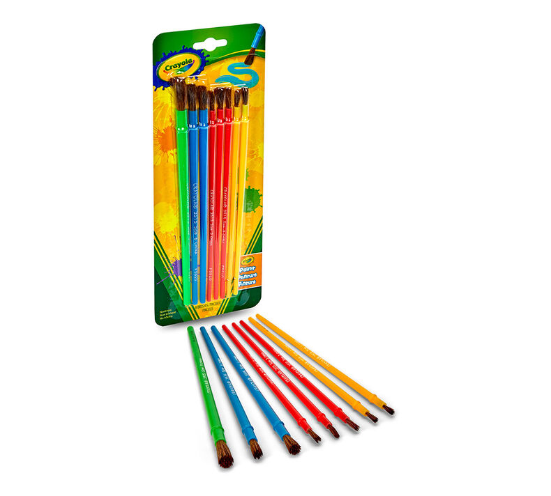 Paint Brush Set, 8 Count