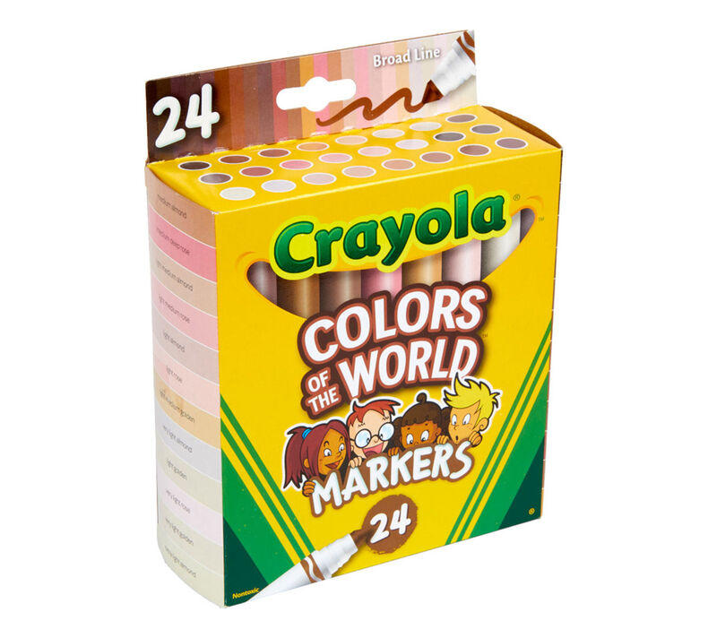 Colors of the World Washable Markers, 24 Count