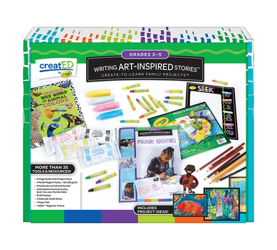 creatED® Family Engagement Kits, Writing Art-Inspired Stories: Grades 3-5: Imaginary Adventures, 30 Count