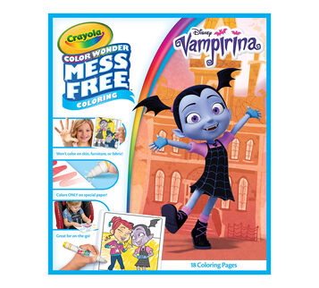 Color Wonder Coloring Pages Vamperina refill booklet front