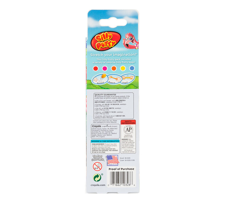 Silly Putty Eggs Party Pack 5 ct.