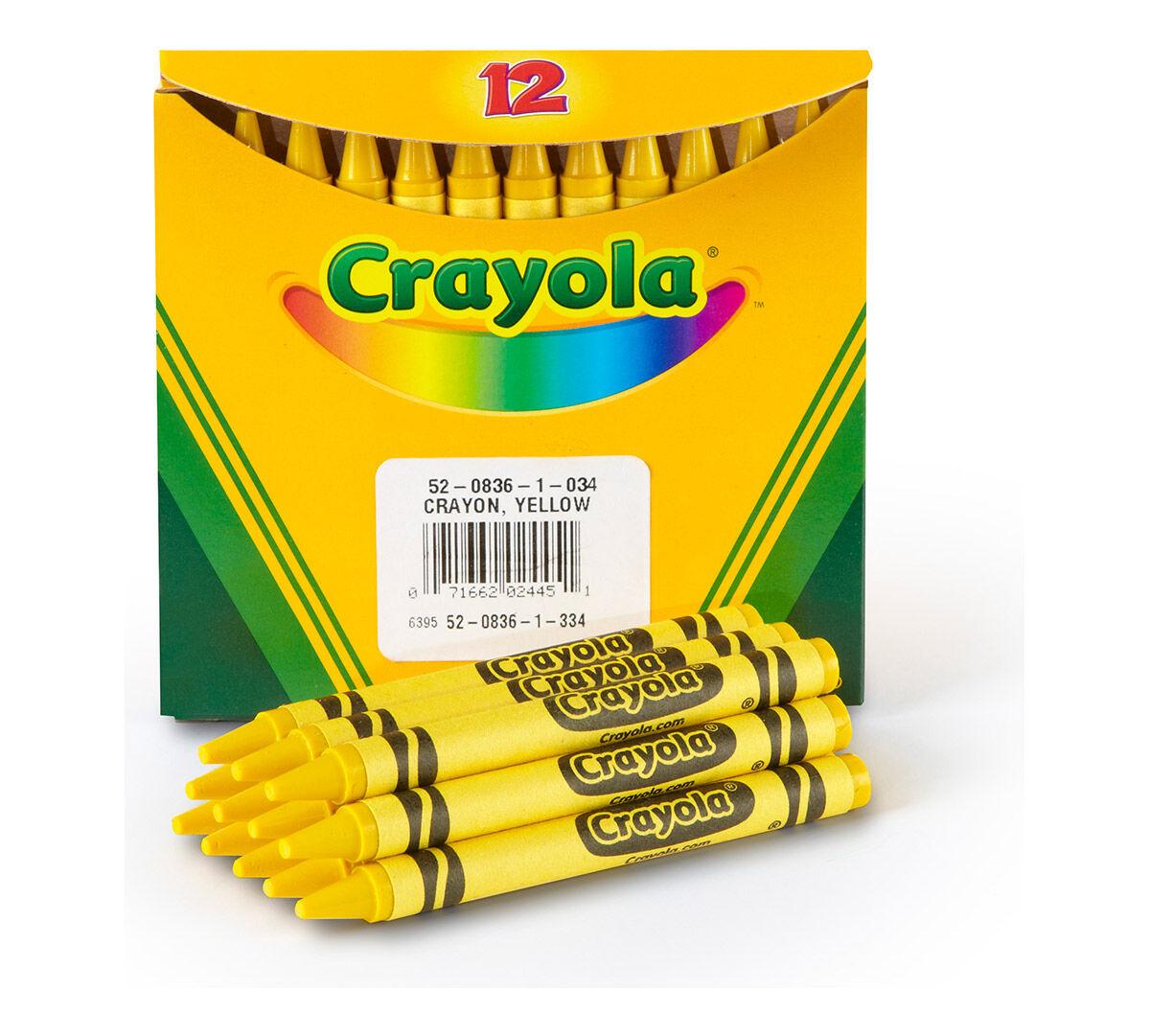 Yellow Bulk Crayons, 12 Count