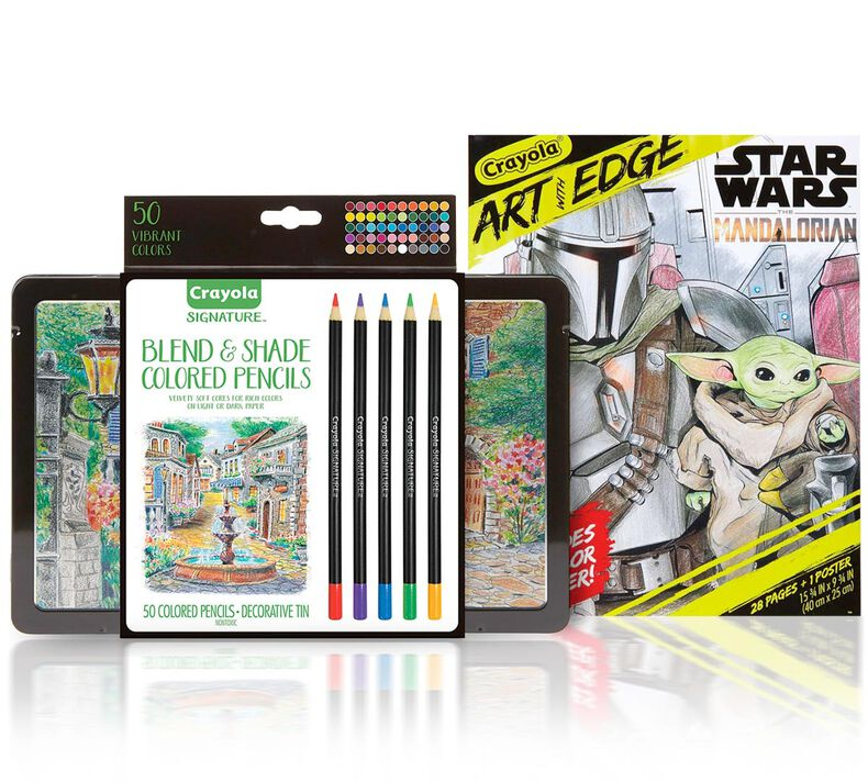 Mandalorian Coloring Gift Set, 50 Colored Pencils