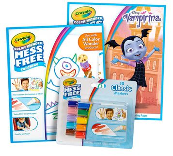 Color Wonder Mess Free Vampirina Pages & Markers