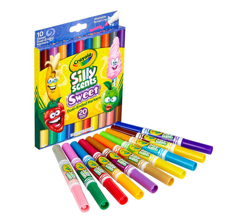 Silly Scents Sweet Dual-Ended Markers, 10 Count