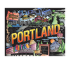 City Escapes Coloring Book Portland Line art with color